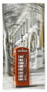 London Telephone C Beach Towel