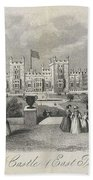 London Windsor Castle East Terrace, The Queen's Private Apartments Beach Towel