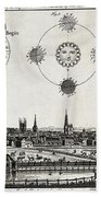 London With Eclipse Diagram, 1748 Beach Towel