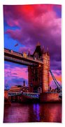 London's Tower Bridge Beach Towel
