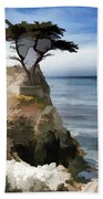 Lone Cypress Tree Pebble Beach  Beach Towel