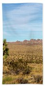 Lone Joshua Tree - Pleasant Valley Beach Towel