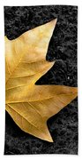 Lone Leaf Beach Towel by Carlos Caetano