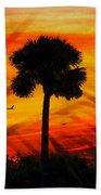 Lone Palm Florida Beach Towel