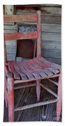 Lone Red Chair Beach Towel