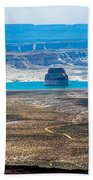 Lone Rock In Lake Powell Utah Beach Towel