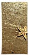 Lone Starfish On The Beach Beach Towel