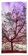 Lone Tree On The Hill Beach Towel