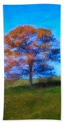 Lone Trees Painting Beach Towel