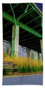 Loneliness In The City Beach Towel