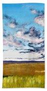 Lonely Autumn Tree Beach Towel