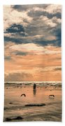 Lonely Couple  Beach Towel