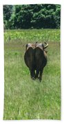 Lonely Cow 2 Beach Towel
