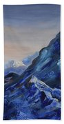 Lonely Mountain Cliff Beach Towel