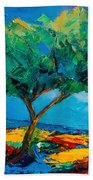 Lonely Olive Tree Beach Towel