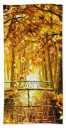 Long Before Winter - Palette Knife Oil Painting On Canvas By Leonid Afremov Beach Towel