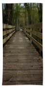 Long Boardwalk Through The Wetlands Beach Towel