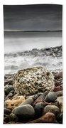 Long Exposure At Lawrencetown Beach, Nova Scotia Beach Towel
