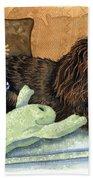Long-haired Dachshund Watercolor Beach Towel