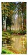 Long Indian Summer In The Woods Beach Towel
