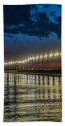Long Lights At Grand Haven Pier Beach Towel