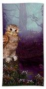 Long Whisker Owl Beach Towel