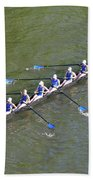 Longboat - Rowing On The Schuylkill River Beach Towel