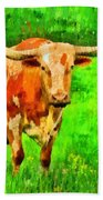 Longhorn 2 - Pa Beach Towel