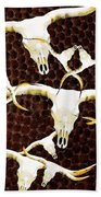 Longhorn Art - Cattle Call - Bull Cow Beach Towel