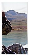 Looking For Musk Ox In Greenland Beach Towel