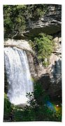 Looking Glass Falls Nc Beach Towel