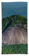 Looking Glass Rock Mountain In North Carolina Beach Towel