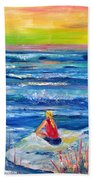 Looking Out Beach Towel