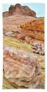 Looking Skyward From Wash 3 In Valley Of Fire Beach Towel