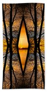 Looking Through The Trees Abstract Fine Art Beach Towel