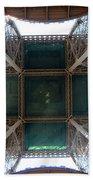 Looking Up Eiffel Tower Beach Towel