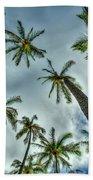 Looking Up The Hawaiian Palm Tree Hawaii Collection Art Beach Towel