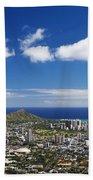 Lookout View Of Honolulu Beach Towel