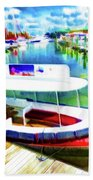 Loose Cannon Water Taxi 1 Beach Towel by Lanjee Chee