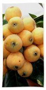 Loquat Exotic Tropical Fruit 4 Beach Towel
