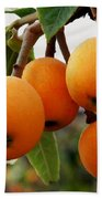 Loquats In The Tree 2 Beach Towel