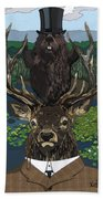 Lord Of The Manor With Hidden Pictures Beach Towel