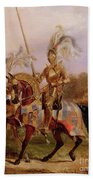 Lord Of The Tournament Beach Towel by Edward Henry Corbould