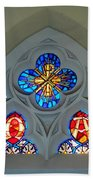 Loretto Chapel Stained Glass Beach Towel
