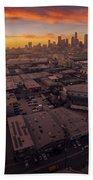 Los Angeles At Sunset Beach Towel