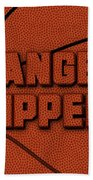 Los Angeles Clippers Leather Art Beach Towel