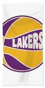 Los Angeles Lakers Retro Shirt Beach Towel