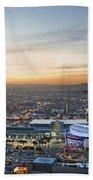 Los Angeles West View Beach Towel