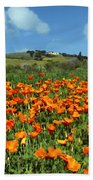 Los Olivos Poppies Beach Towel
