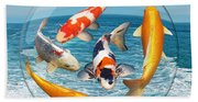 Lost In A Daydream - Fish Out Of Water Beach Towel